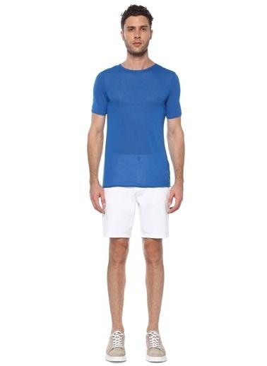 NetWork Erkek 1073716 Slim Fit Bisiklet Yaka Basic T-Shirt Mavi
